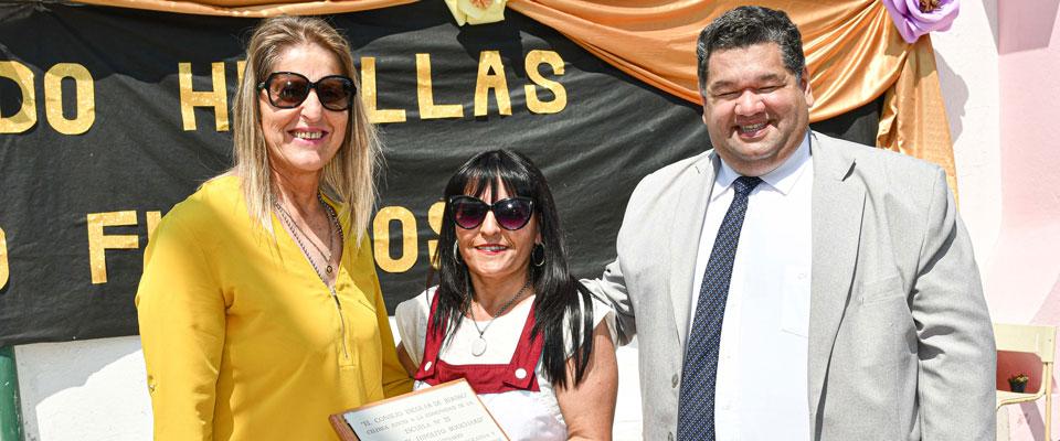 El intendente Jorge Nedela participó de los festejos por los 100 años de la Escuela N°23 de Los Talas
