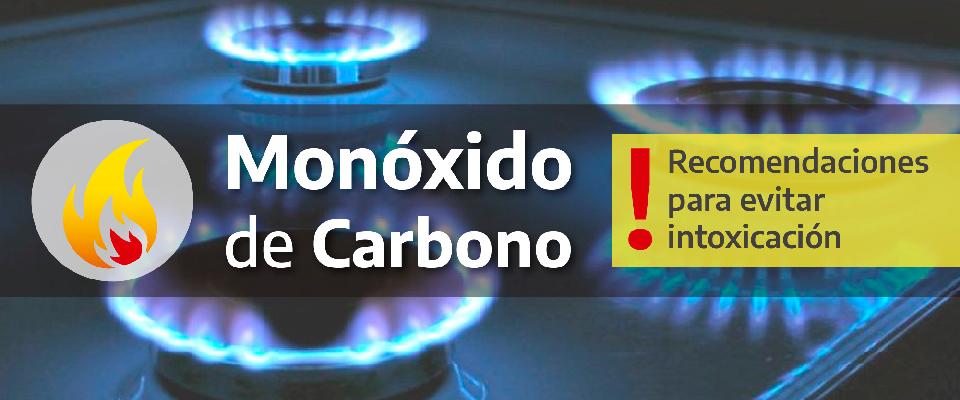 Recomendaciones para evitar intoxicación por monóxido de carbono