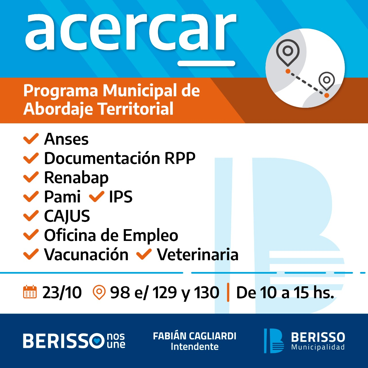Jornada del Programa Municipal de Abordaje Territorial en el barrio El Carmen