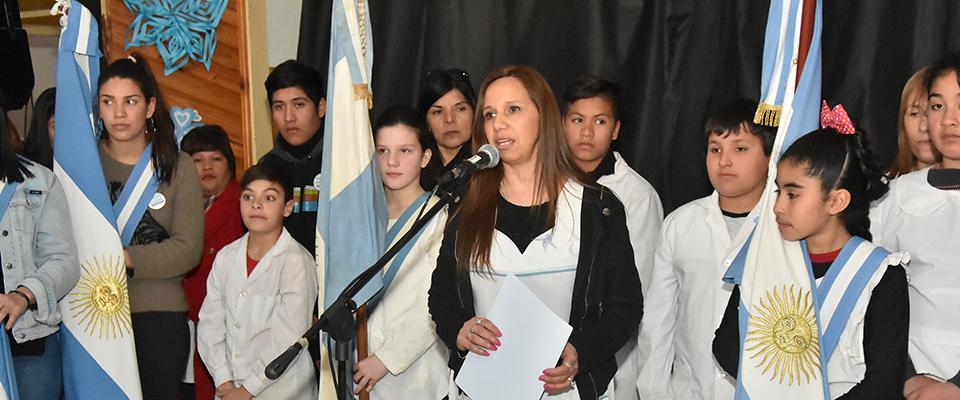 Acto central escolar al cumplirse 169 años del fallecimiento del General José de San Martín