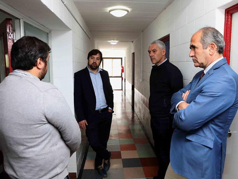Cagliardi y Kreplak recorrieron el ExSanatorio de la Carne y el Albergue Universitario