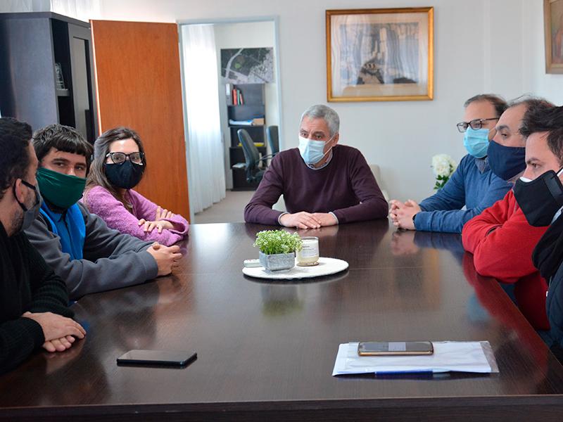 Cagliardi recibió a representantes del Ministerio de Desarrollo Social y el INADI