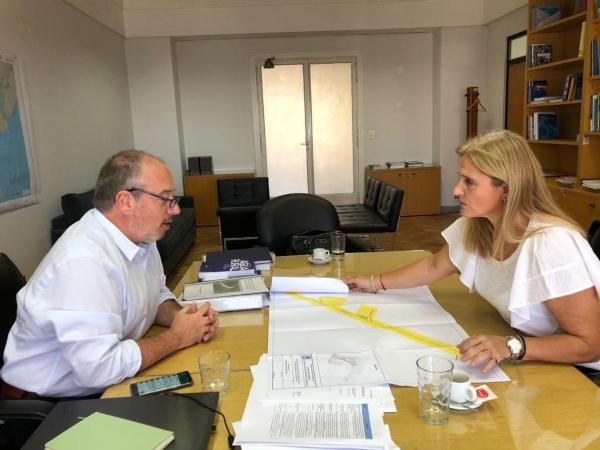 Reunión con el secretario de Infraestructura y Política Hídrica de la Nación