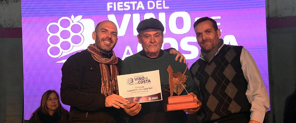 El Mejor Vino Tinto de la Costa 2019 fue el producido por el viñatero local Renzo Ruscitti