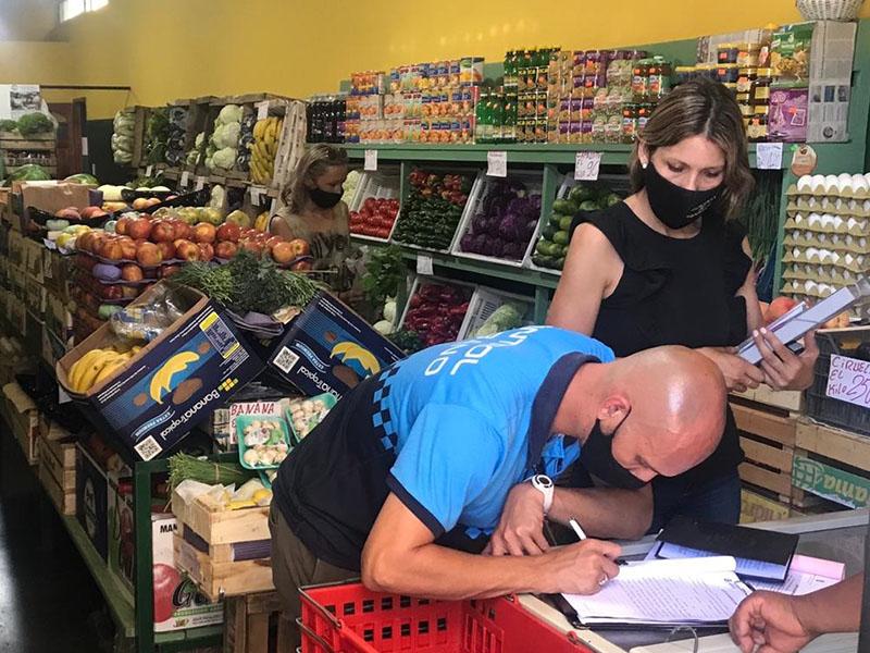 Controles en comercios ante el incumplimiento de medidas de higiene y sobreprecios