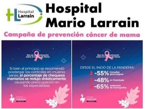 Cáncer de mama: El Hospital Larrain lanza Jornadas de Prevención