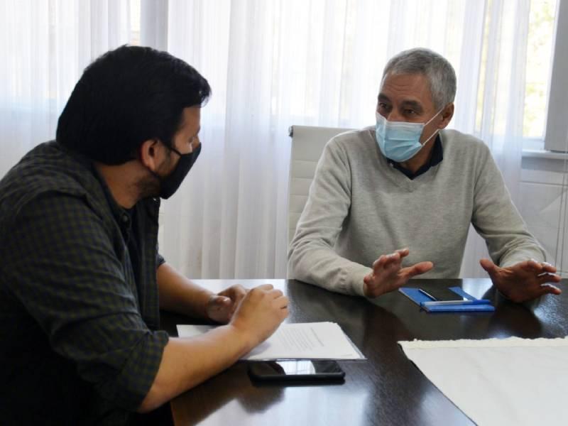 Cagliardi recibió al senador Provincial Emmanuel González Santalla